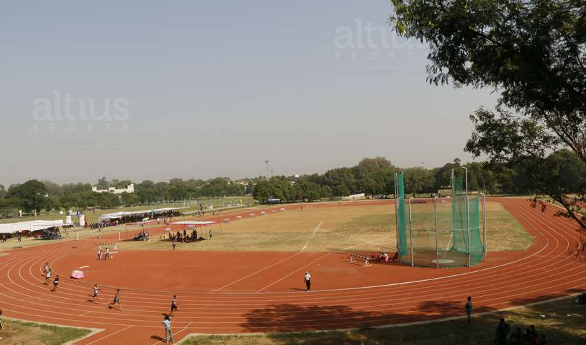 athletic track construction for stadiums